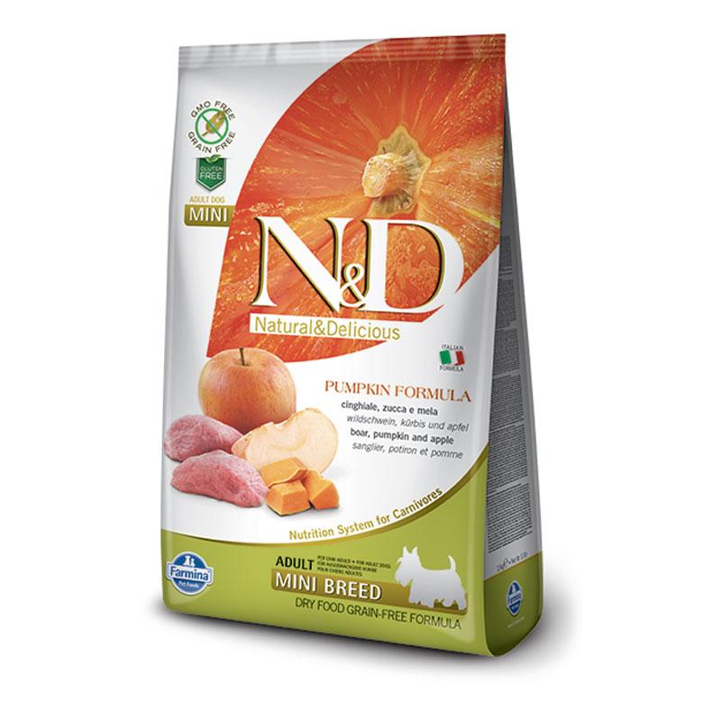 N&D bundeva divlja svinja jabuka adult mini 2.5kg