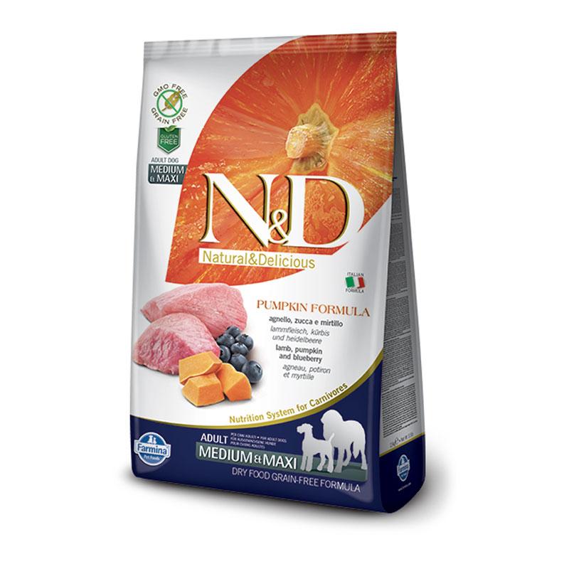 N&D bundeva jagnjetina borovnica adult medium&maxi 12kg