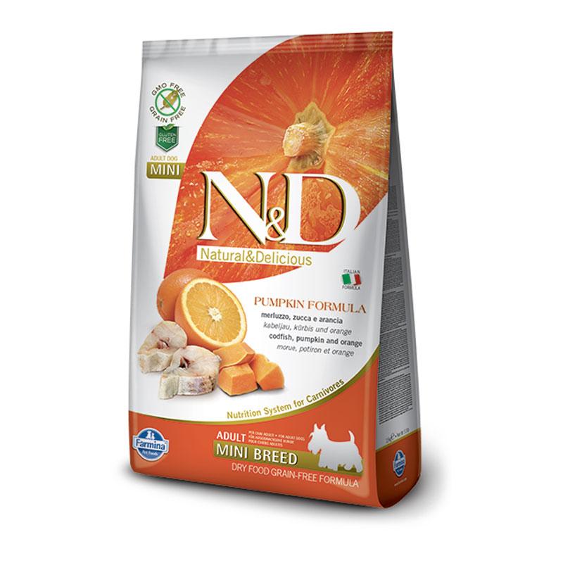 N&D bundeva riba pomorandža adult mini 800g