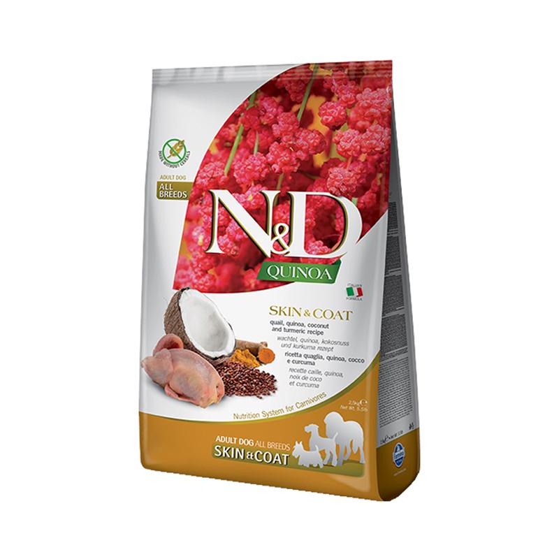 ND dog quinoa skin/coat prepelica