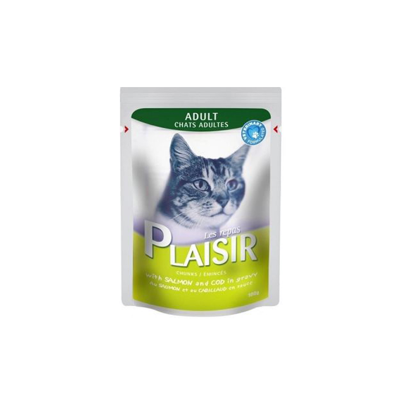 Plaisir  sos za mačke losos bakalar 100g