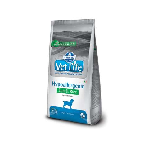 Vet life hypo egg/rice dog 2kg